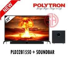 POLYTRON Cinemax Soundbar 32  PLD32B1550 / 32B1550 (GARANSI RESMI 5 TAHUN)- (FREE PACKING KAYU) (DIJAMIN 100% ORI)