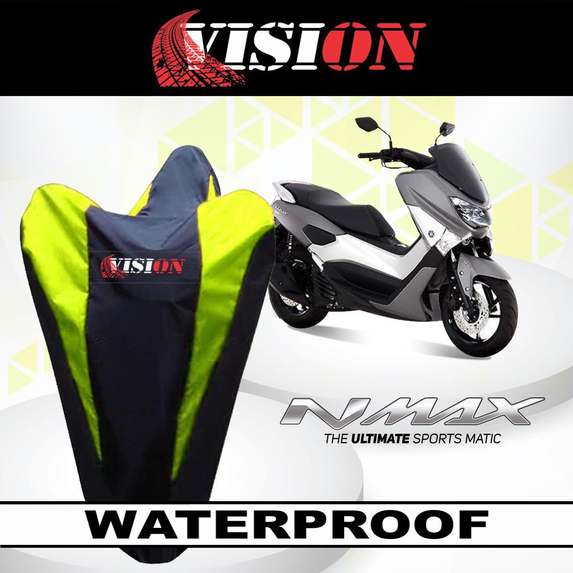 [ BAYAR DI TEMPAT ] LIST KUNING Sarung Bodi Motor Yamaha NMax Anti Air VISION Cover Body Waterproof Penutup Selimut Pelindung