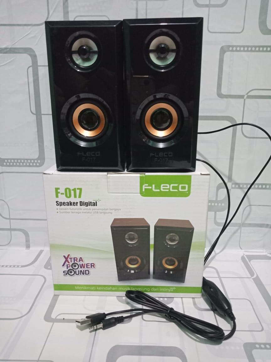 New Speaker Aktif Fleco F-017 / Speaker Mini HP dan Komputer Dll F017 Feco