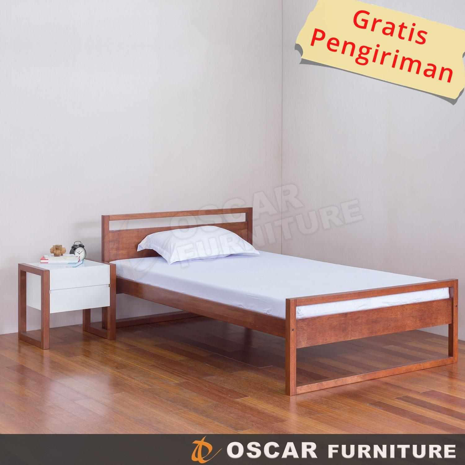 Oscar Furniture - Tempat Tidur Minimalis 120 X 200 (super Single) Seri Forte By Oscar Furniture.