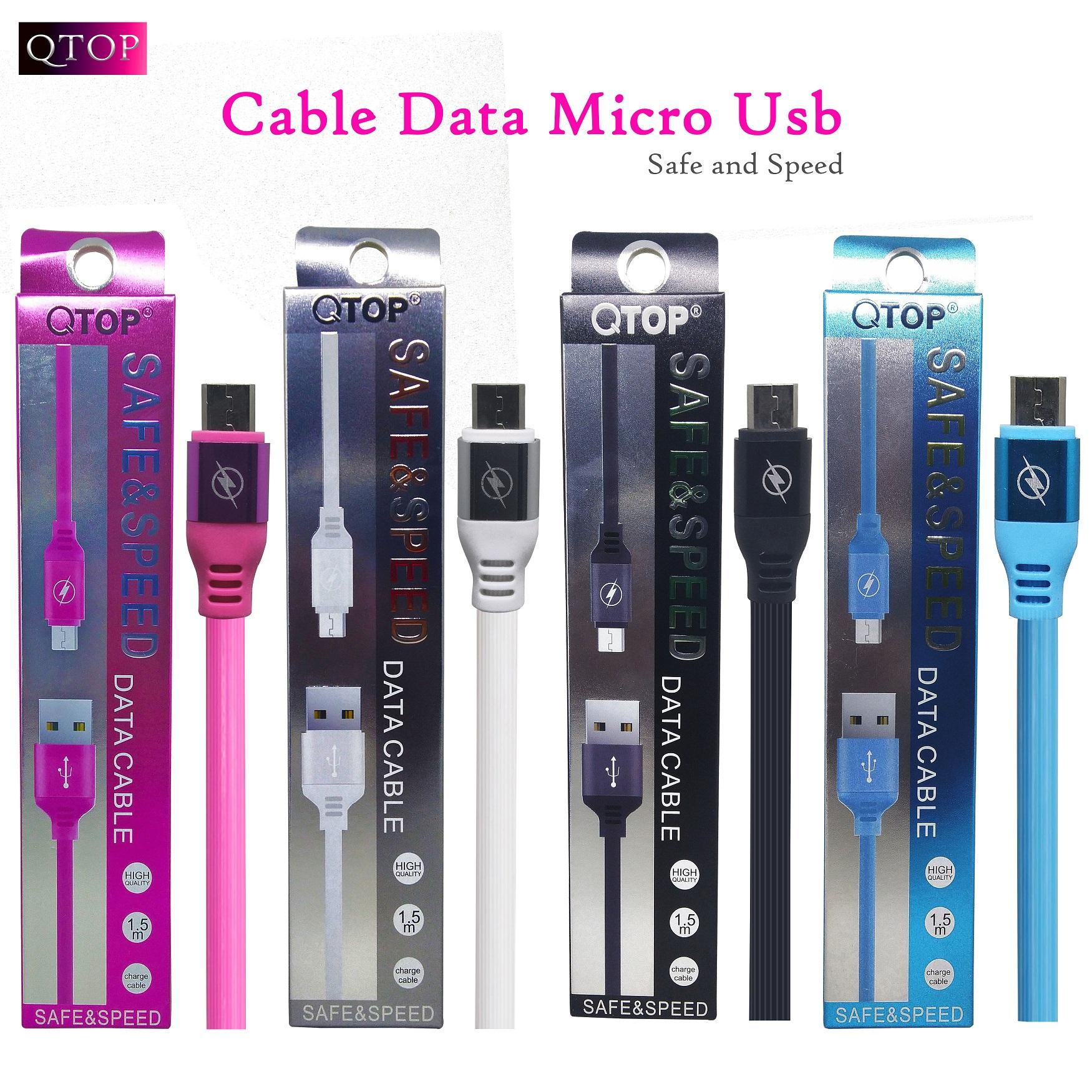 Kabel Data Qtop Style REMAX 1,5M - Fast Speed micro USB high Quality