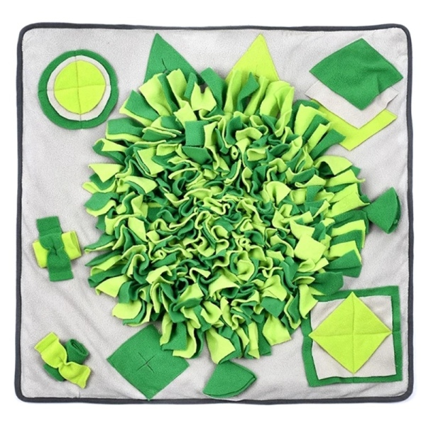 Pet Dog Snuffle Mat Nose Smell Training Blanket Sniffing Pad Slow Feeding Bowl