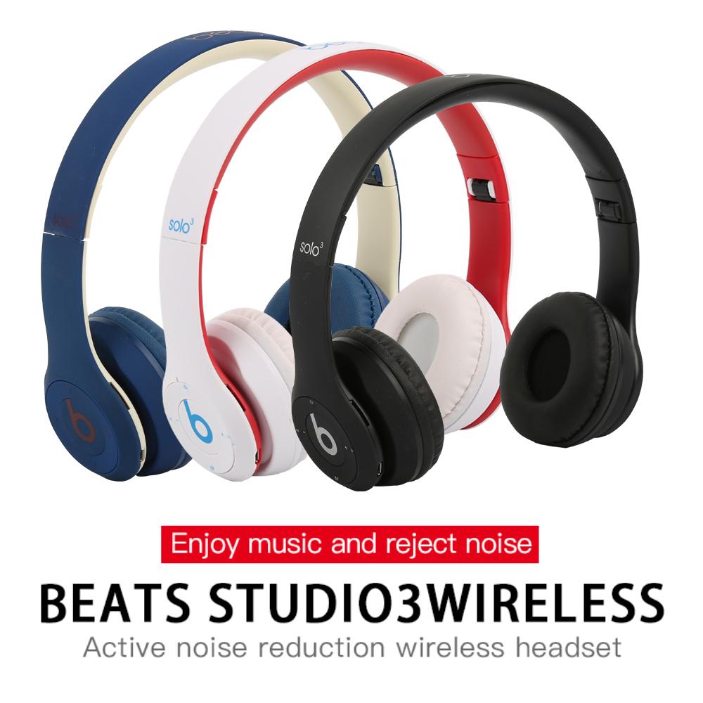 �EFdikou】 Beats Solo3ไร้สายหูฟังบลูทูธสำหรับเล่นเ�ม,Solo 3หูฟังพับได้ Deep Bass �ฮนด์ฟรี�ีฬาหูฟังพร้อมไมโครโฟน