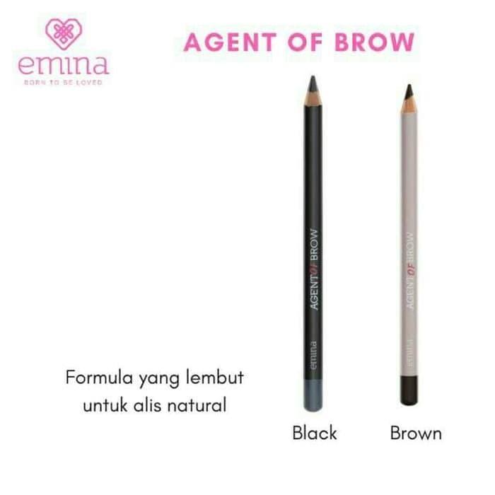 A&U - [ COD ] Kecantikan EMINA Agent of Brow Pencil Eyebrow / Pensil Alis Emina - BLACK - Multicolor