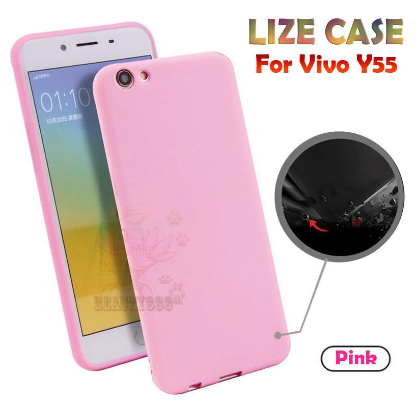 Lize Case Vivo Y55 Rubber Silicone Anti Glare Skin Back Case / Silikon Vivo Y55 /