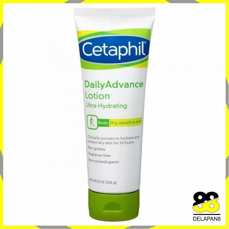 Cetaphil Daily Advance Lotion Ultra Hydrating (226g) Original 100% / Produk Terlaris Mandi Perawatan Tubuh Body Lotion / Perawatan Badan / Losion Krim Tubuh Body Lotion - 8D88029