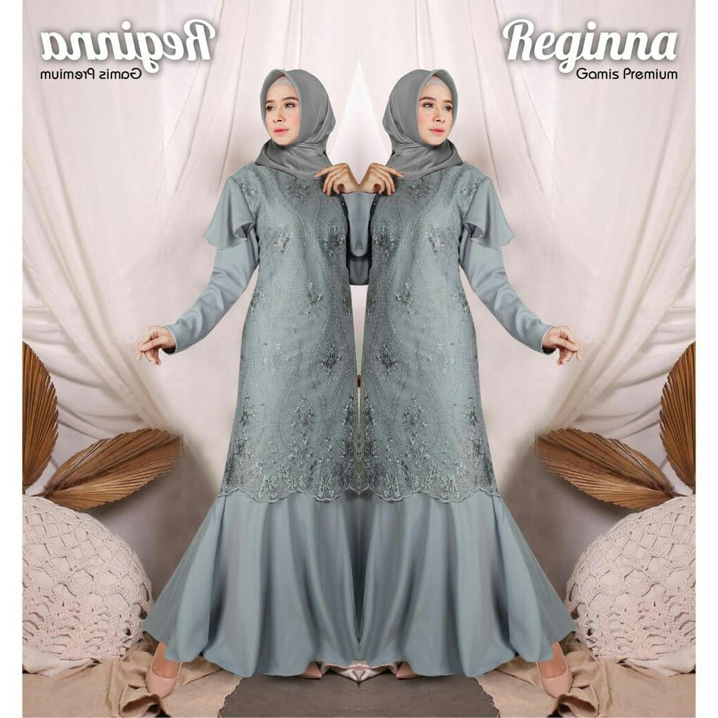 Gamis Brukat Pesta Mewah & Modern Pernikahan Remaja Wanita Model Mermeid  Duyung Terbaru 10 /Dress Baju Kebaya /Gamis Brokat Warna Mustard magenta