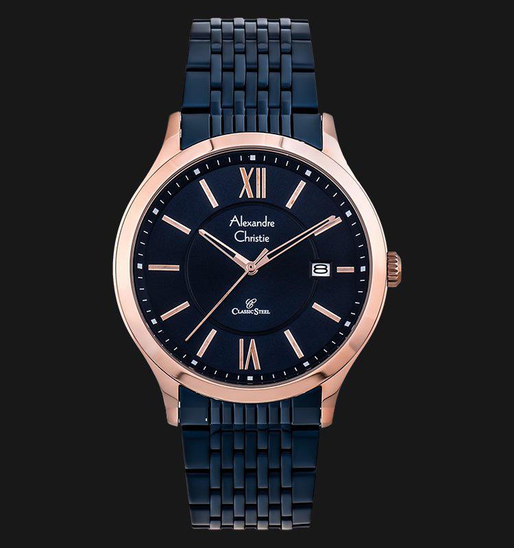 Alexandre Christie AC 8585 MD BURBU Man Blue Dial Blue Stainless Steel 1b83adcb1a