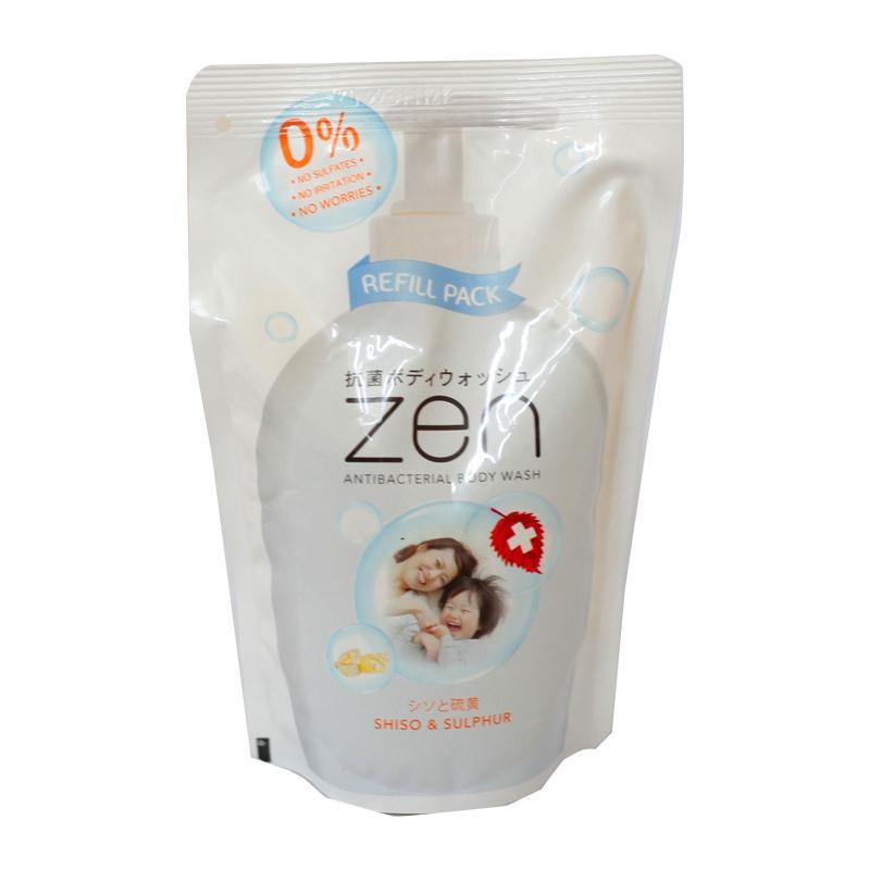 BISA COD - Refill ZEN Body Wash Shiso & Sulphur Pump 450ml