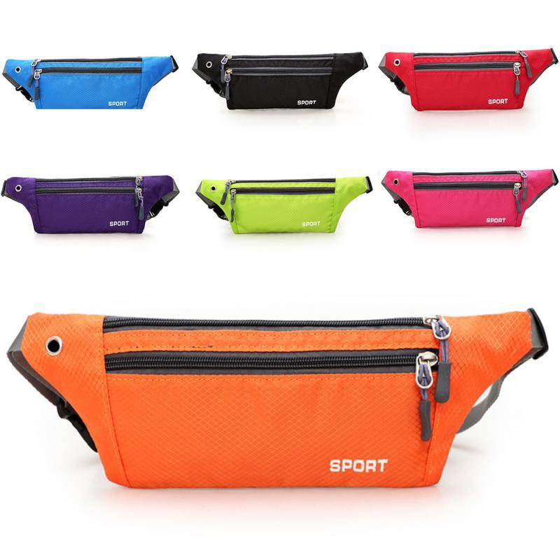 Kgs Running Bag Tas Pinggang Nilon Waterproof Sport Chest Shoulder Bags Belt Bum Pouch Unisex Waistbag Hiking Zip Bag Fanny Pack 8 Warna By Mika Boutique.