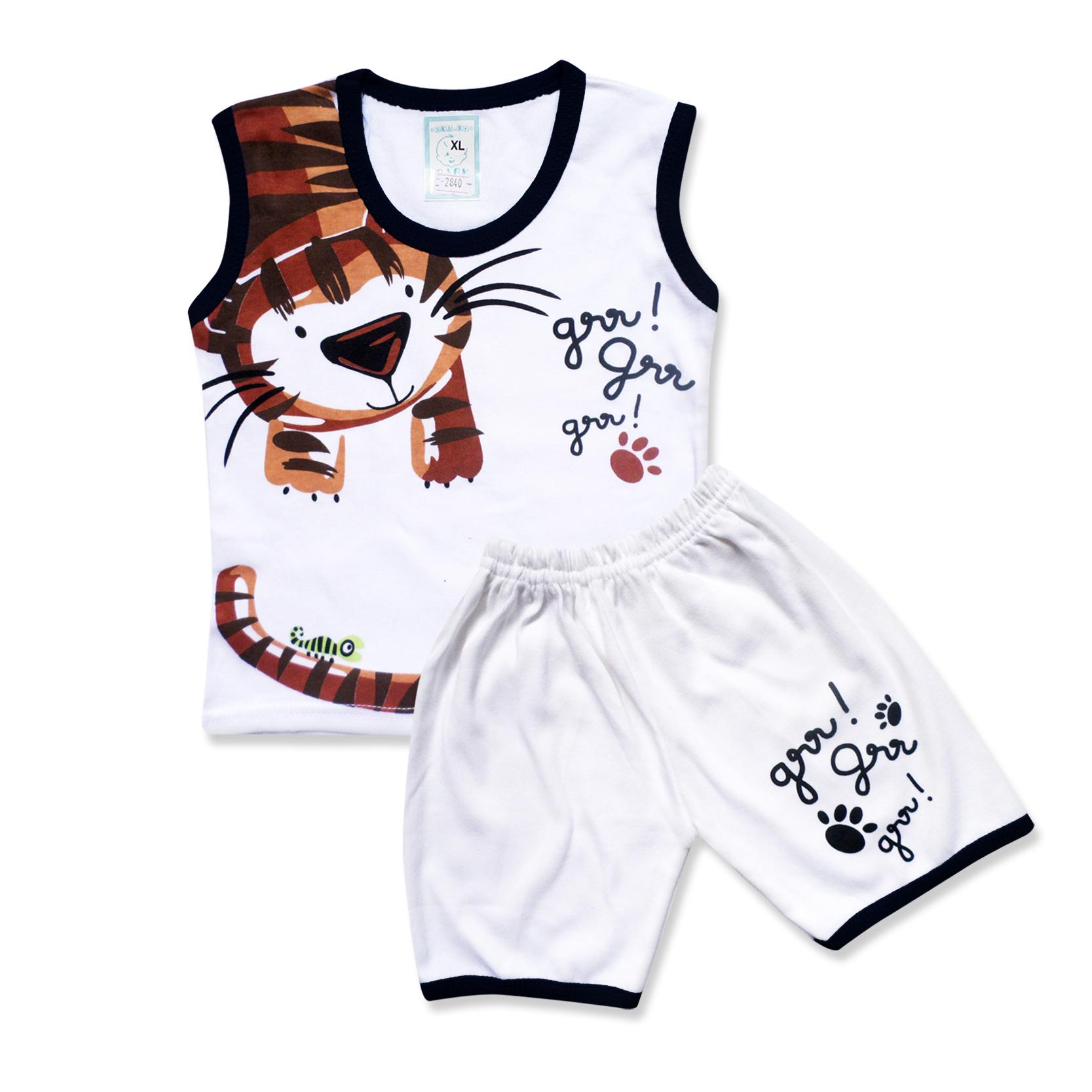 Skabe Baby Putih Baju Singlet Anak Bayi Laki Laki Setelan Kaos 2840 Everyday 8fc719f7fd