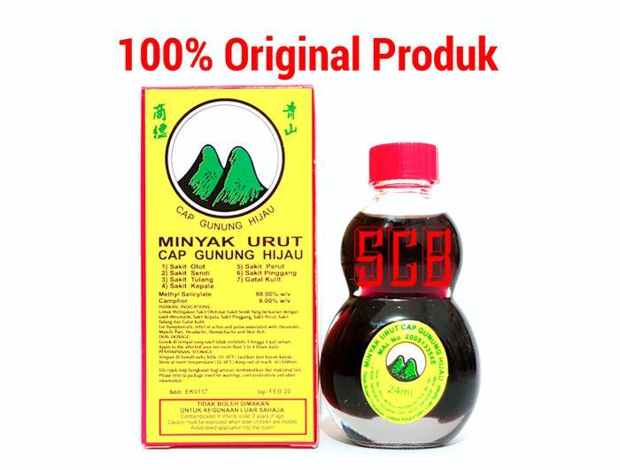 Minyak Urut Asai (Cap Gunung Hijau)-Obat sakit otot,sendi,tulang