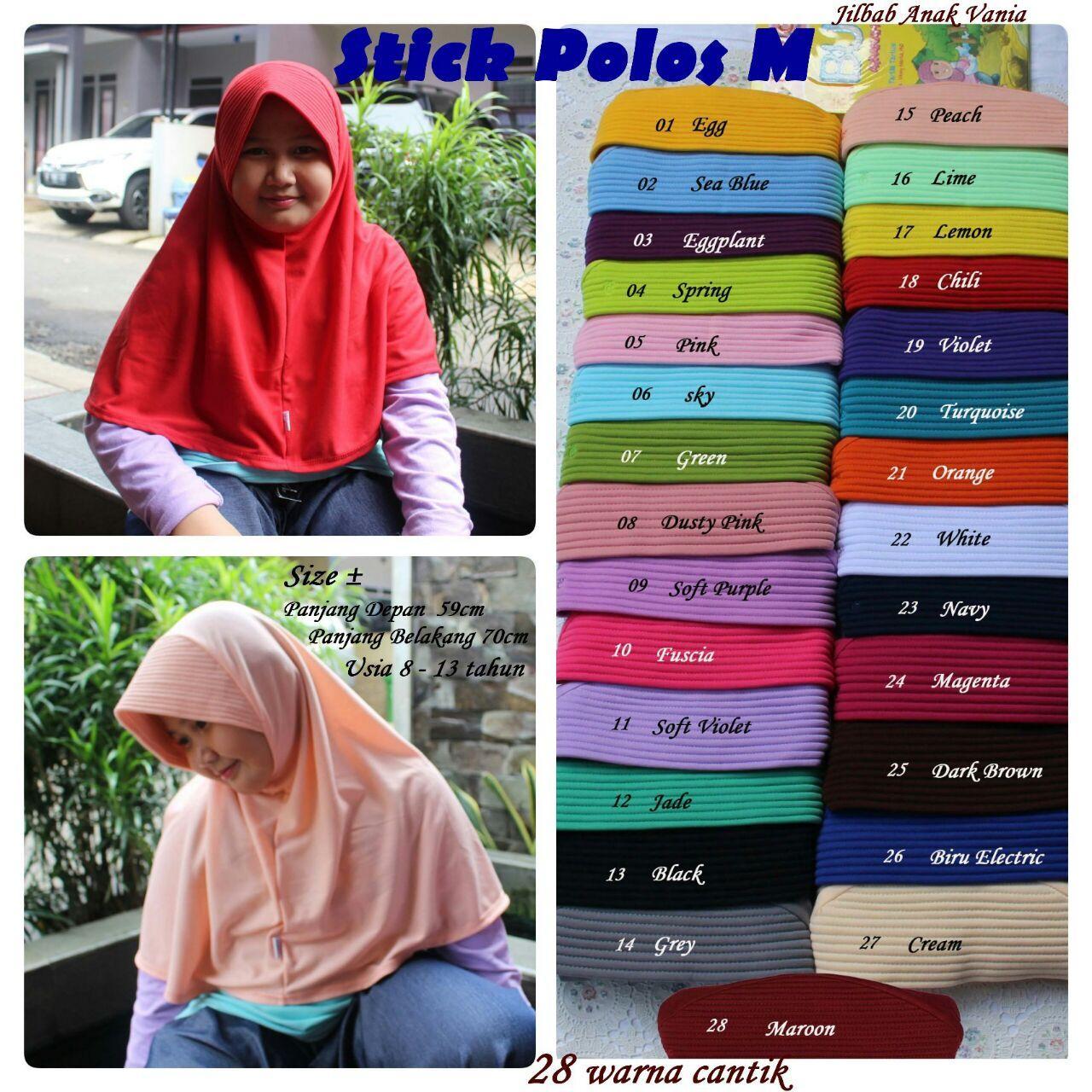 Jilbab Vania Stick Polos