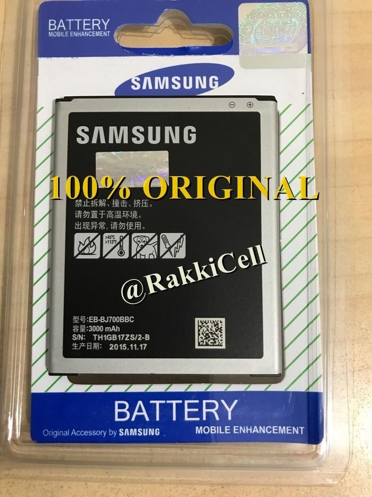 Samsung on7 / Galaxy J7 2015 . EB-BJ700BBC SM-J700F . SM-J700G . SM-J700H . J700F . J700 . J700G . J700H / j4 2018 / j400 . ORIGINAL 100% Baterai Batre Battery Battre Batery Batrai Batere Batrei