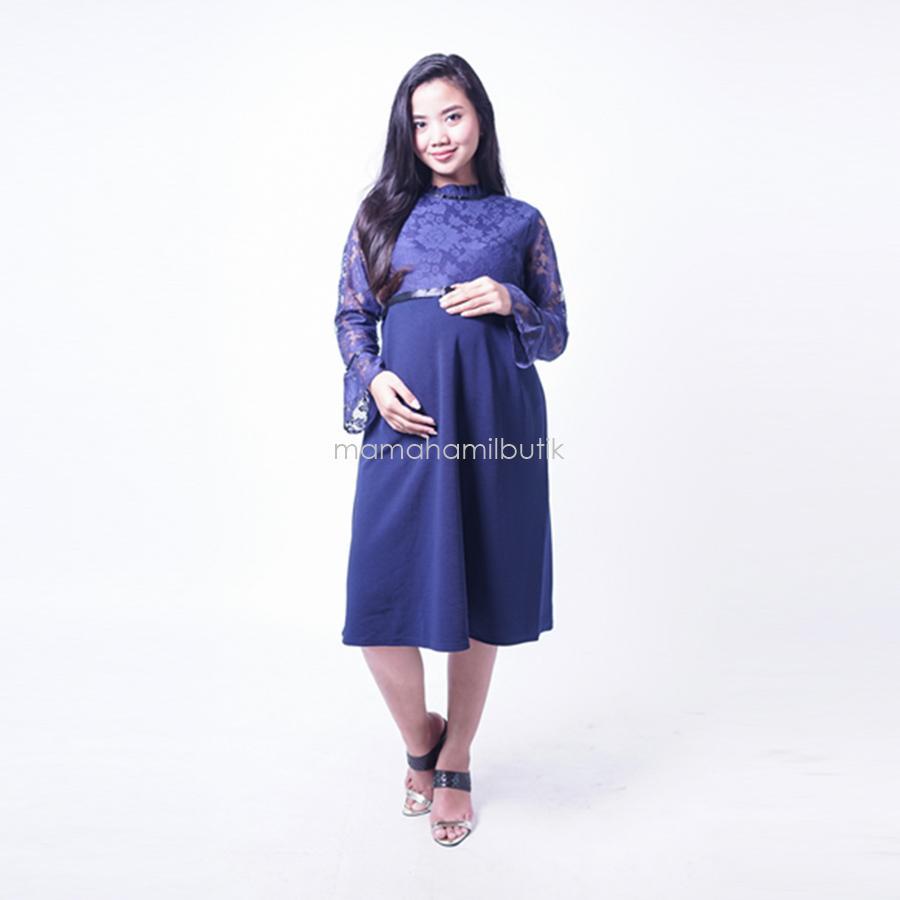 Mama Hamil Dress Ibu Hamil Menyusui Kate Middleton - Baju Ibu Hamil - Baju  Hamil Modern c04c0d8bc7