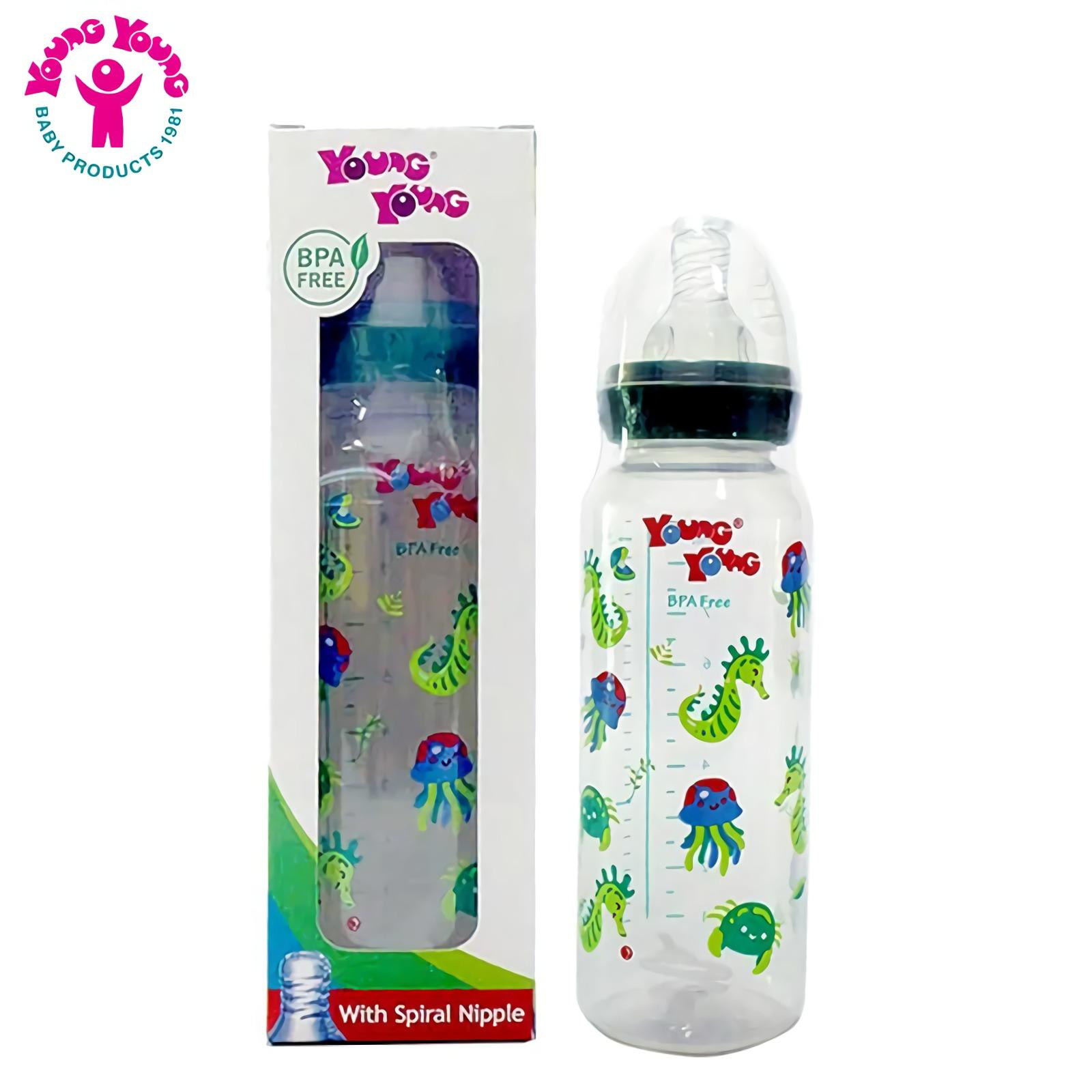 YOUNG YOUNG Botol Susu IL-811 Baby Bottle BPA Free 250 ML Ungu | Lazada Indonesia
