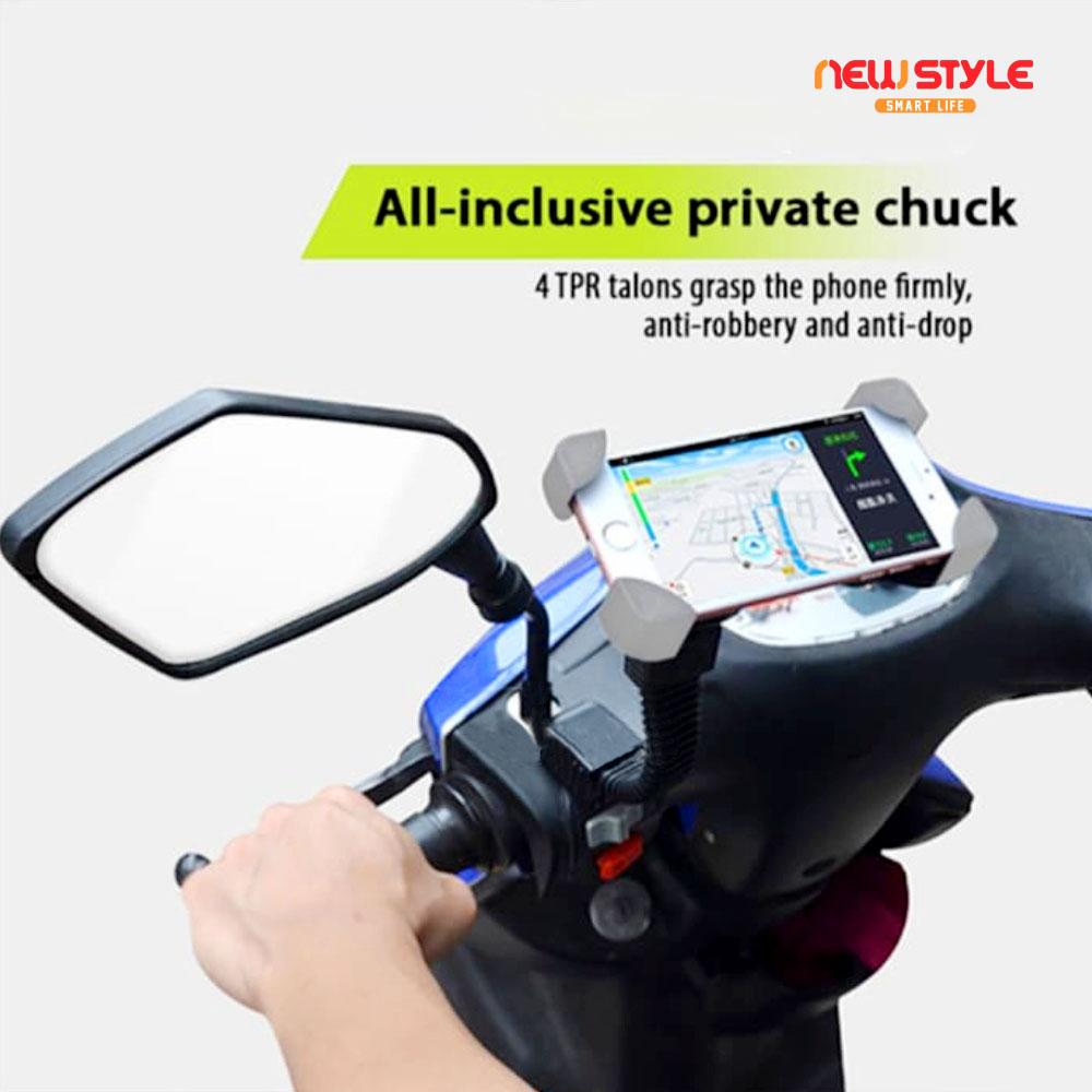 New Style - phone holder motor braket pegangan hp/handphone buat di spion motor GPS