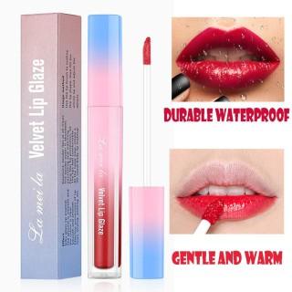 -(COD)Lameila Velvet Lip Glaze Lip Gloss Lipstick Cair Lipstik LaMeiLa Lip Tint - Menori thumbnail