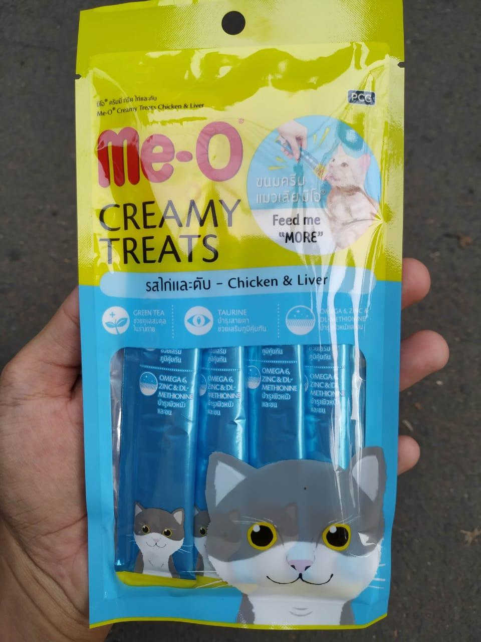 Me O Creamy Treats 1 Pack Snack Kucing Liquid Meo Creamy Catfood
