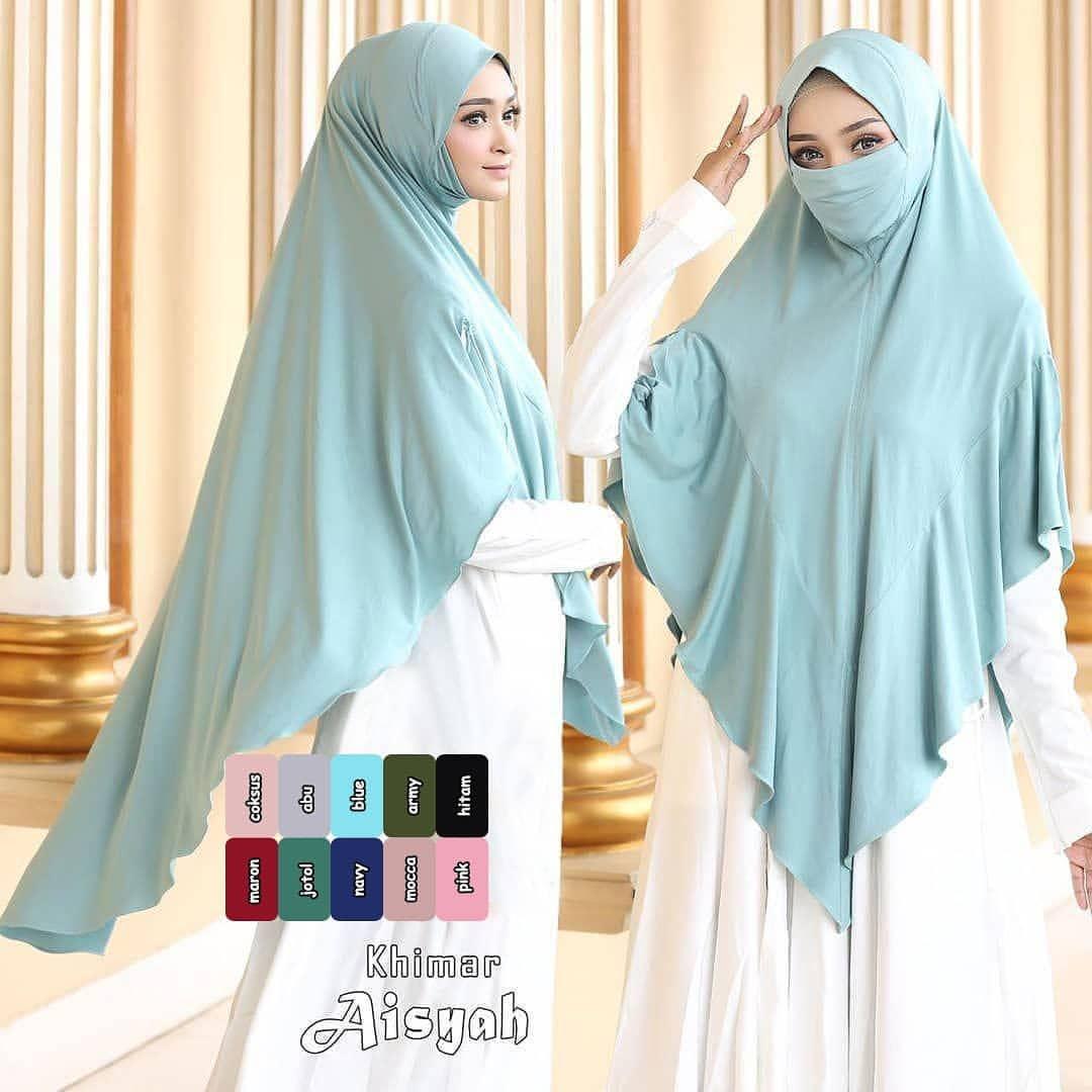AISYAH NIQOB hijab syari / kerudung khimar masker / kerudung instan