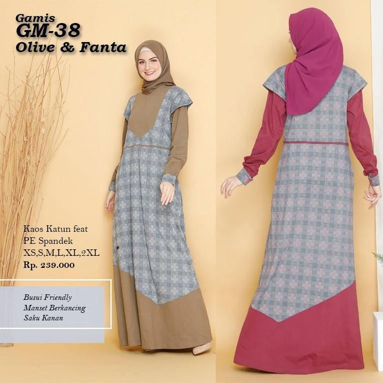 Bisa Cod Rahnem Original Gm 38 Fanta Olive Gamis Dewasa Rahnem Gm 38 Fashion Muslim Terbaru 2020 Lazada Indonesia