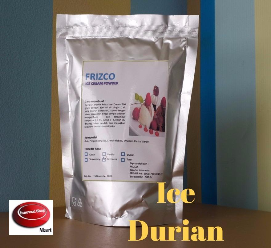 Frizco Durian Ice Cream Powder 500gr Bubuk Es Krim Duren By Innovasi Shop.