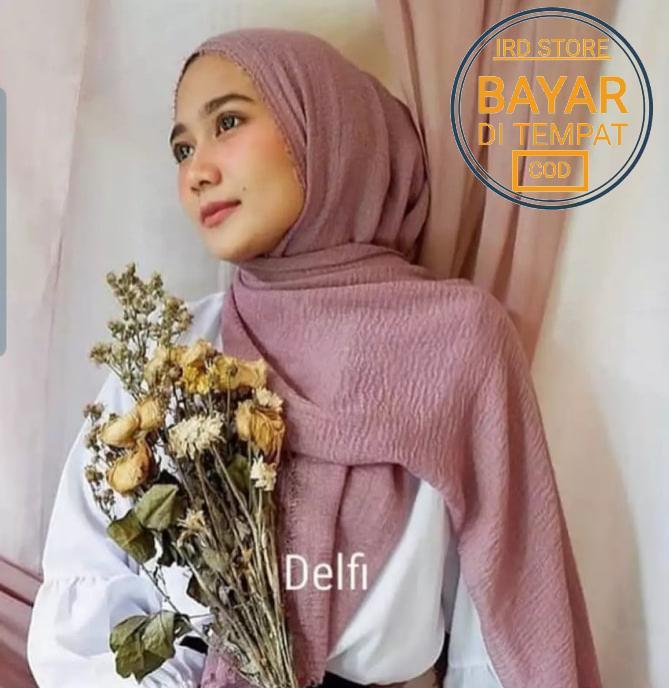 Hijab Pasmina Crinkle warna terlengkap / jilbab Pashmina Crinkle warna terlengkap