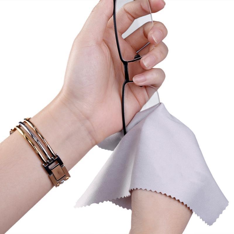 10pcs Premium Microfibre Cleaning Cloths for Lens Glasses Phone Tablet Screen