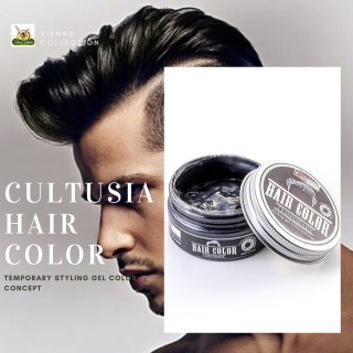 pomade cultusia warna black styling gel color concept Titanium black hair color BPOM thumbnail