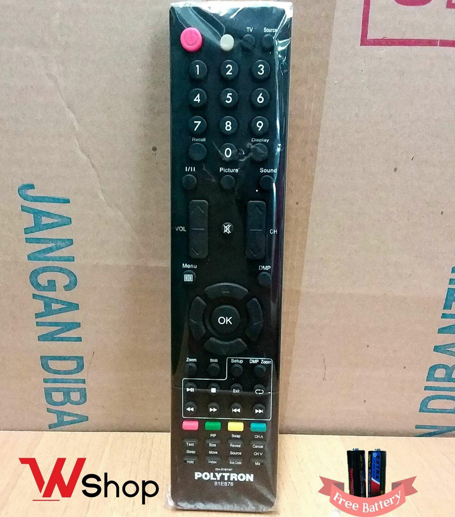 REMOT TV LCD LED POLYTRON ORIGINAL