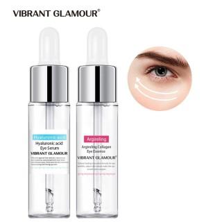 VIBRANT GLAMOUR Asam Hyaluronic Collagen Serum Mata Set Anti-Wrinkle Remover Lingkaran Hitam Pelembab Perawatan Mata Esensi 15 ml + 15 ml thumbnail