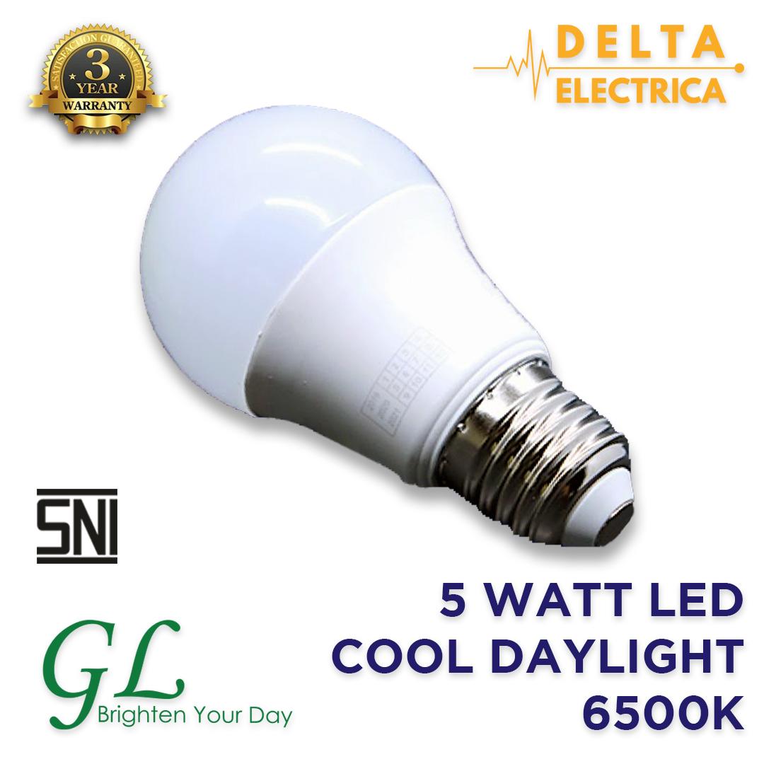 5 Watt Bohlam LED General Lighting Cool Daylight 6500K