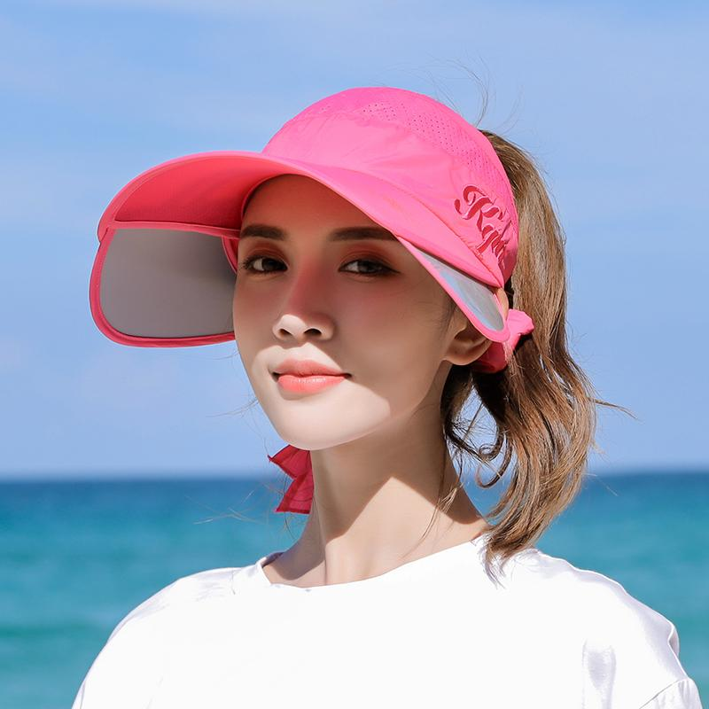 0cc53b95fae56 Summer Topee Female Sun Protection Hat Retractable Kong Ding Baseball Cap  UV Sun Hat Outdoor Large