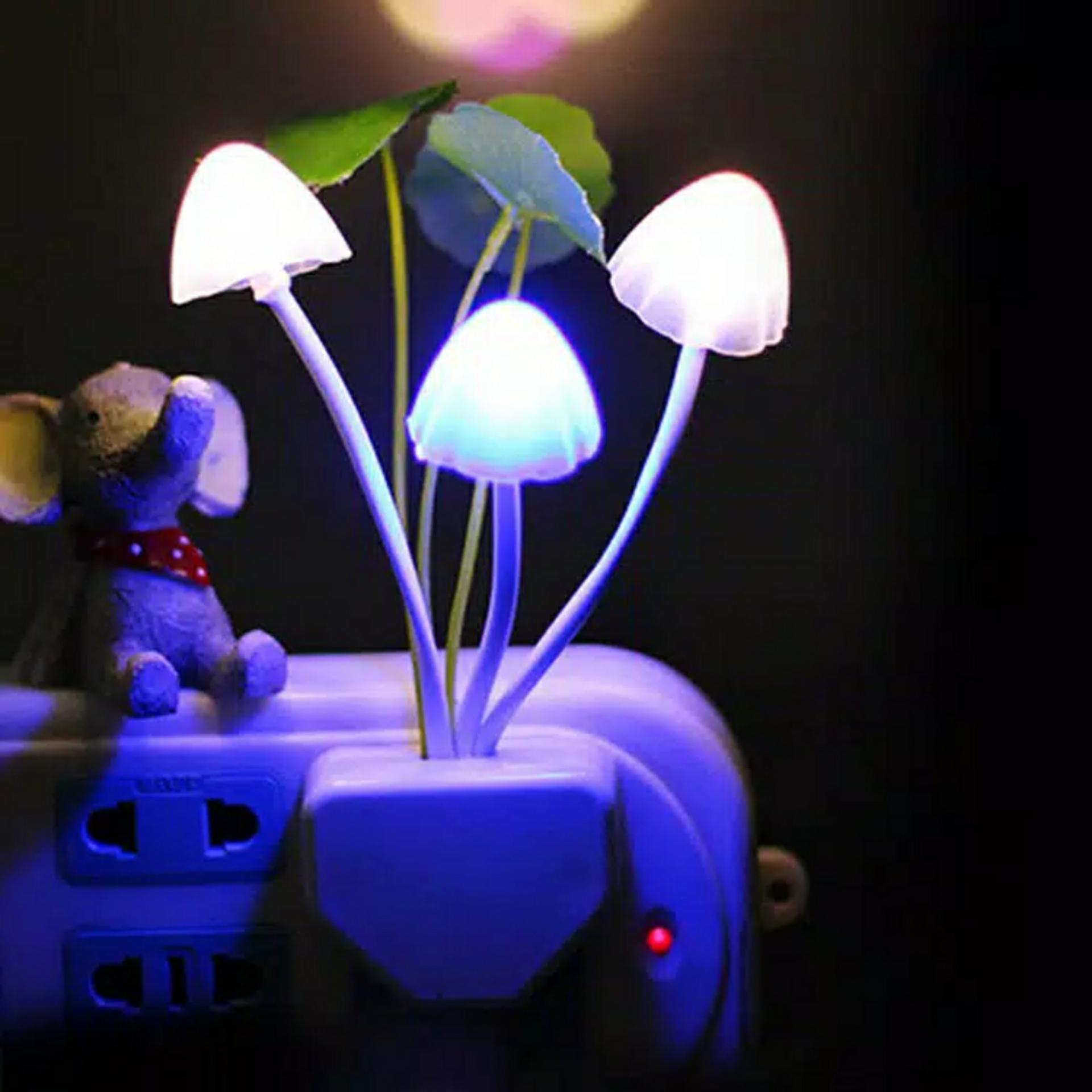 Lampu Tidur LED Jamur Avatar Unik Sensor Cahaya-Lampu Hias Kamar