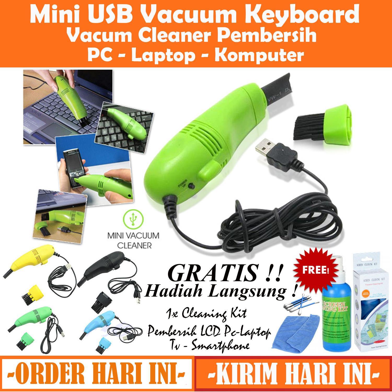 Pembersih Mini USB Vacuum Keyboard Cleaner For Laptop Komputer PC Vacum Penghisap - GRATIS Cleaning Kit Pembersih LCD Pc / Laptop / Handphone / TV