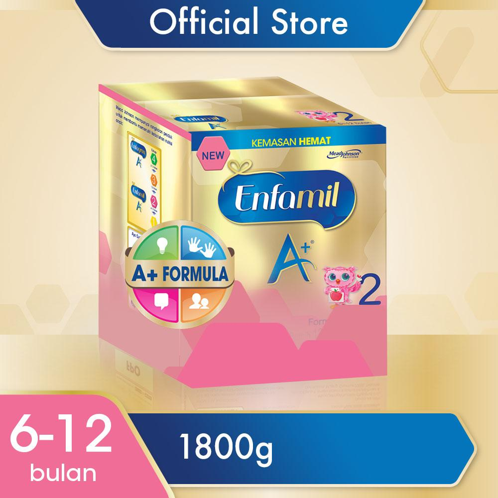 Enfamil A+2 Susu Bayi - Plain - 1800gr By Lazada Retail Enfagrow.