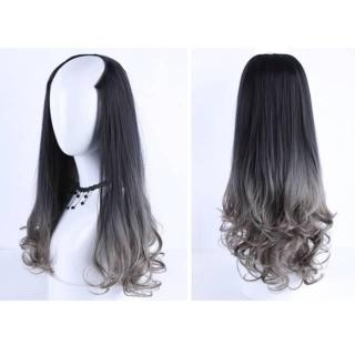 HAIRCLIP CURLY OMBRE GREY DAILY REAL PIC thumbnail