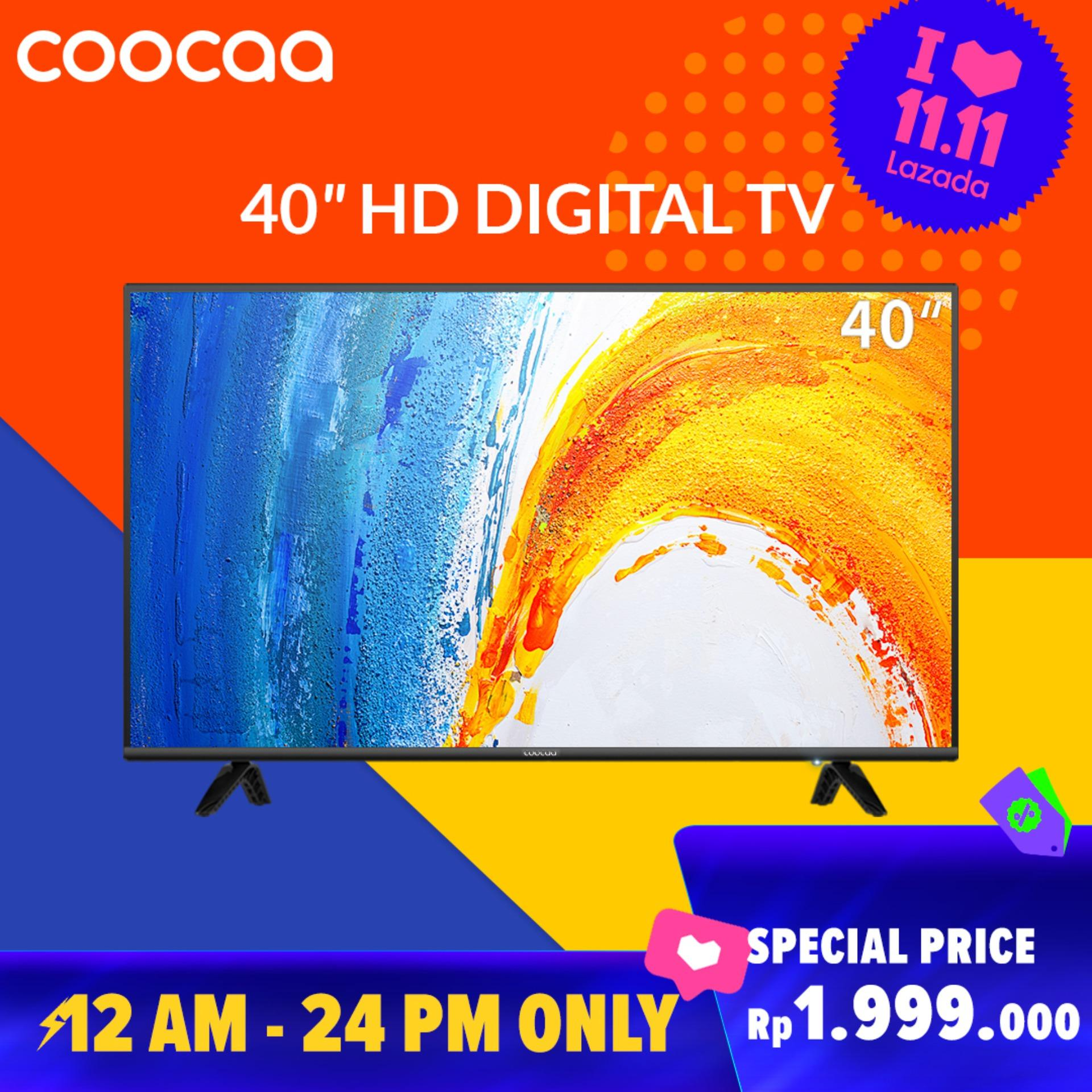 COOCAA LED TV 40 inch - Full HD Panel - Slim - USB/HDMI (Model : 40D5A)