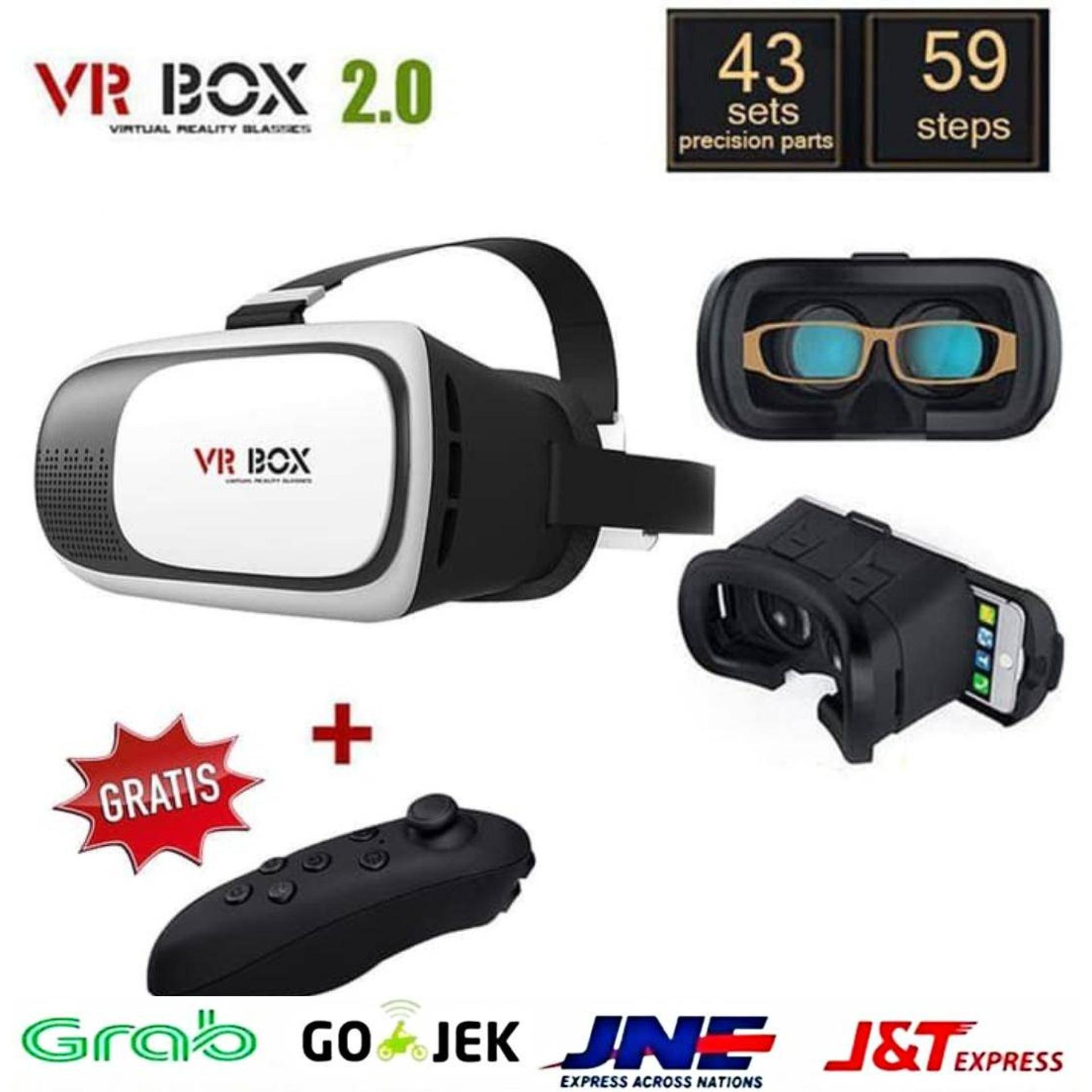 12b3f08650613 Kacamata Virtual 3D VR Box 2 + Remote Bluetooth