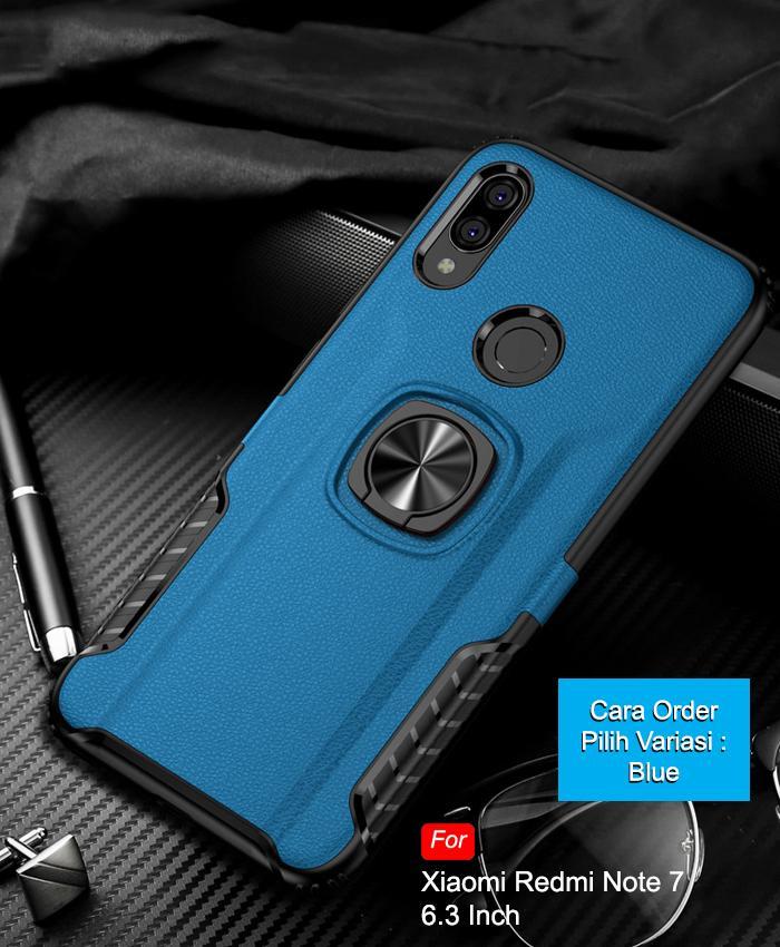 Calandiva Hard Case Xiaomi Redmi Note 7, Redmi Note 7 Pro (6.3 Inch) (sama Ukuran) Casing Ring Thunder Hybrid By Calandiva