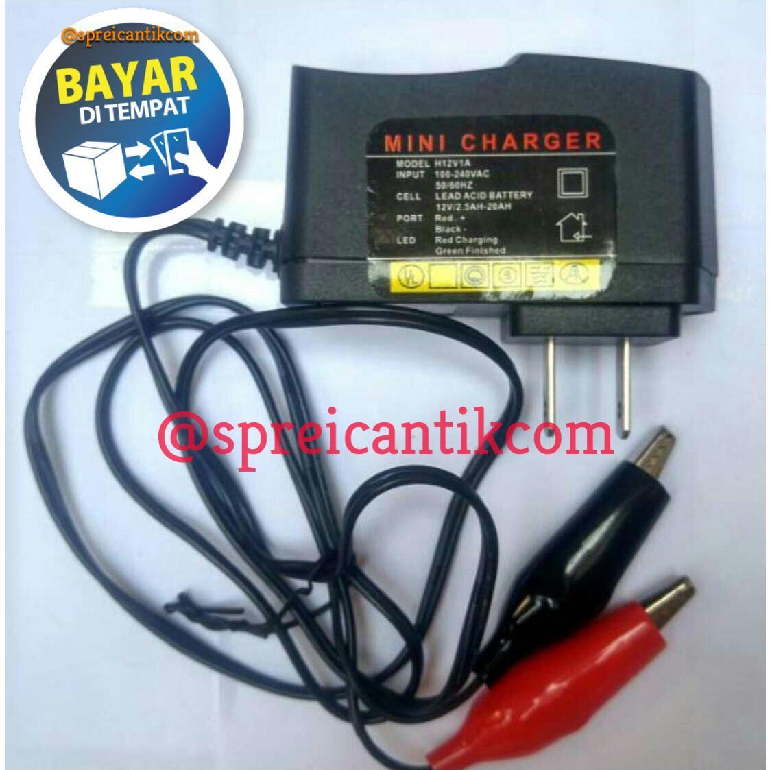 [promo] Adaptor Test Lampu / Mini Charger Aki / Cas Aki Motor 12 V By Sprei Cantik.