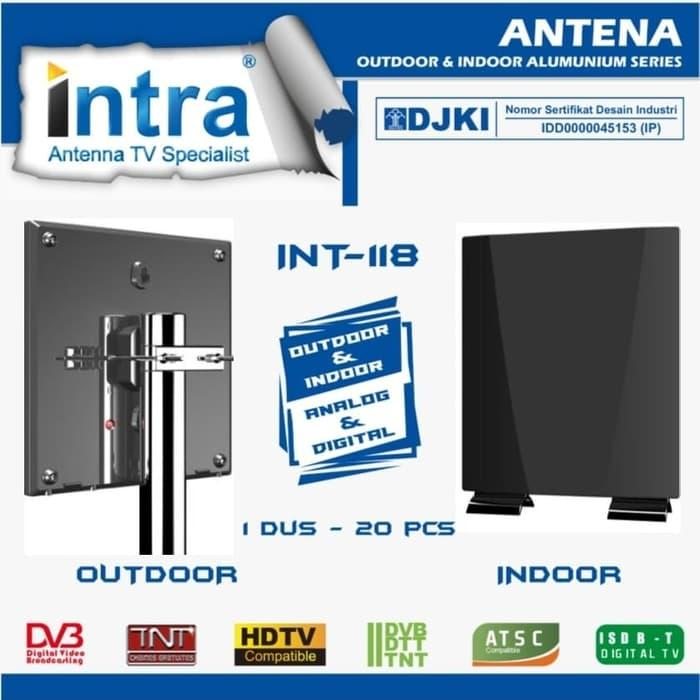 Antena TV Digital Analog LED Indoor Outdoor NEW Intra - INT 118