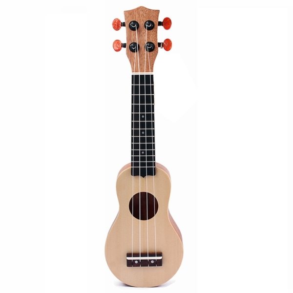 17 Inch Spruce Wood Ukulele Portable Ukulele Solid Mini Travel Guitar with Bag