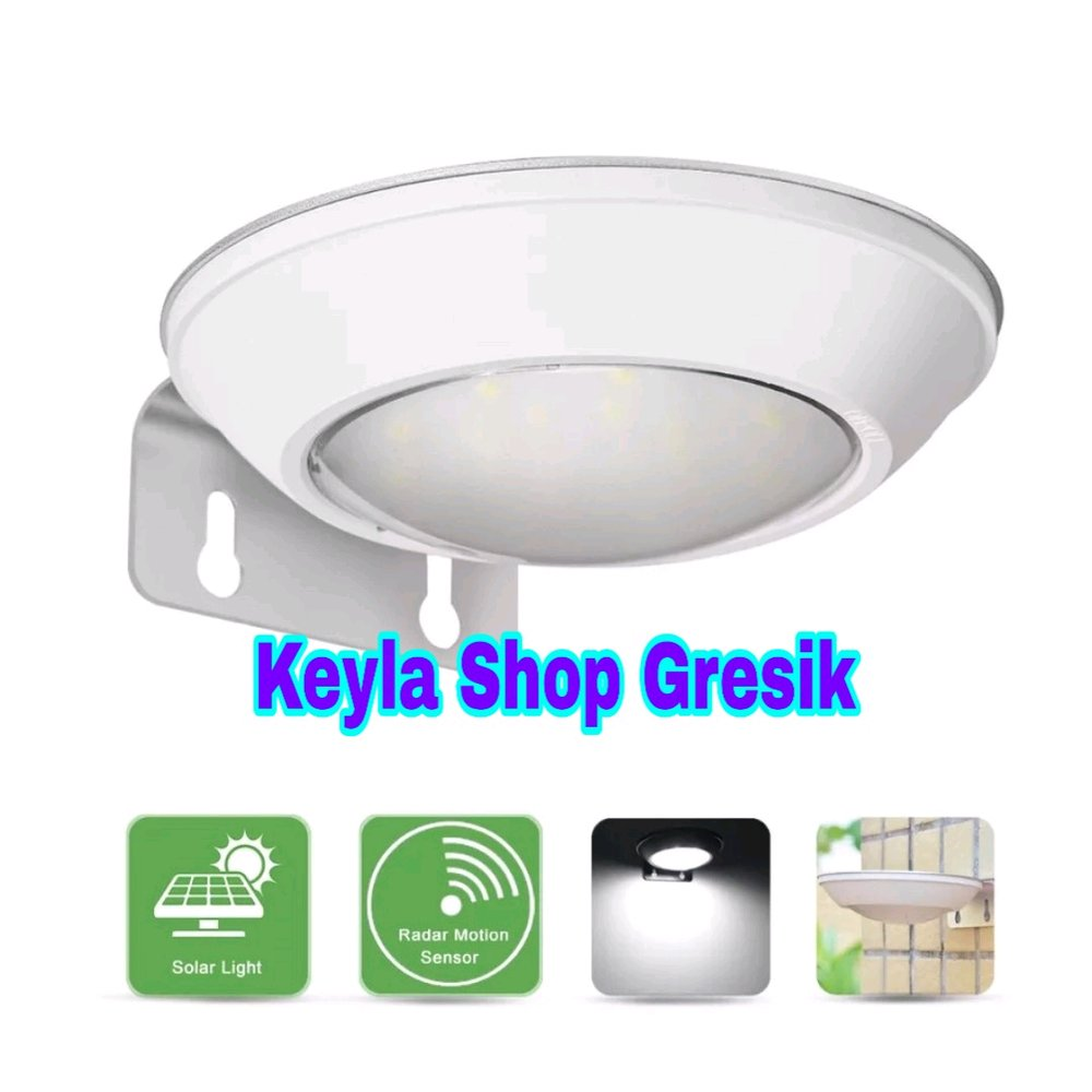 Lampu Taman Tenaga Surya Matahari Anti Air Untuk Luar Ruangan (16 Led Solar Power Lamp Wall Light Sound Sensor ) Led Power Cell Waterproof Stainless Steel For Outdoor Keyla Shop Gresik ( Bukan Sensor Gerak )