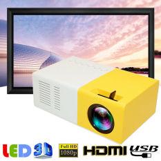 【Wisdhome】máy Chiếu Di Động Mini J9 1080P Dành Cho Rạp Chiếu Phim Gia Đình, Hỗ Trợ Đa Phương Tiện HDMI, AV, VGA , USB, SD