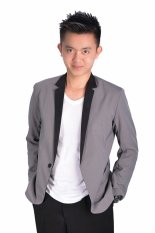 Fesyen Zone Blazer Fz 01 Grey Promo Beli 1 Gratis 1