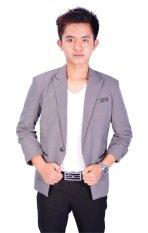 Fesyen Zone Blazer Style Premium - Abu-Abu
