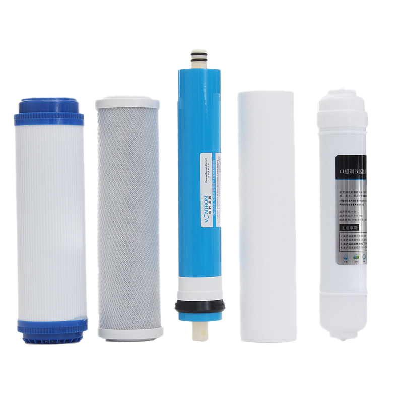Bảng giá 5Pcs 5 Stage Ro Reverse Osmosis Filter Replacement Water Purifier Cartridge Equipment With 50 Gpd Membrane Water Filter Kit Điện máy Pico