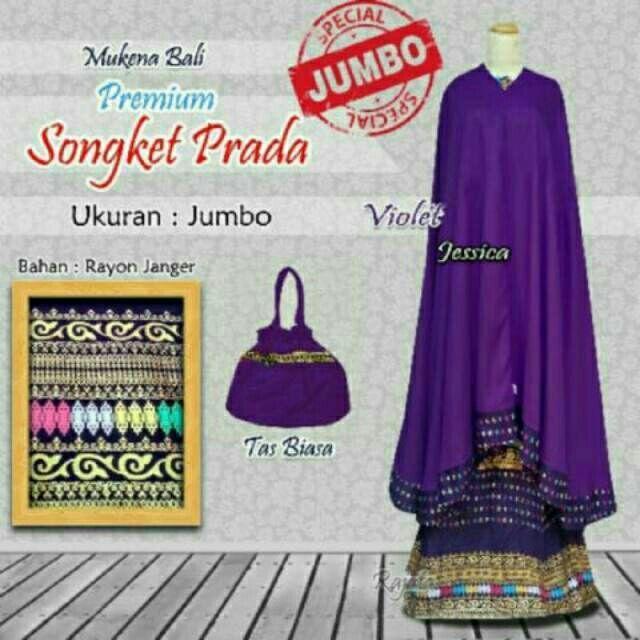 Mukena Songket Bali Prada