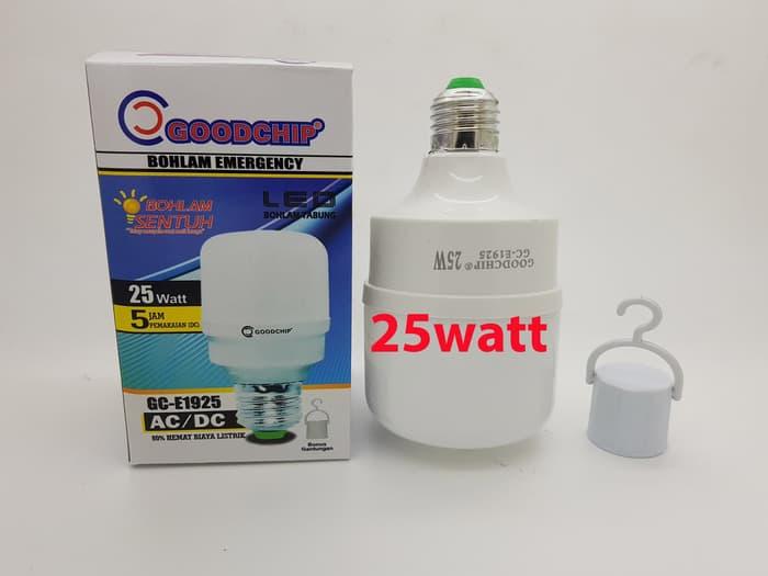 Bohlam Led Lampu Emergency 25 Watt Merk Goodchip Mitsuyama mati lampu